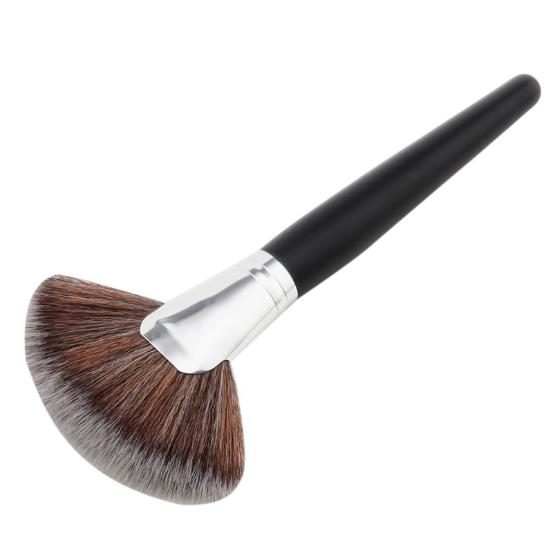 Black Professional Cosmetic Makeup Brush Women Foundation Make Up Cheek Brushes Two Style