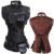 Retro Gothic Sexy das Mulheres 13 de Aço Desossado Steampunk Corset Top Corselet Overbust Bustiers & Espartilhos Do Vintage Para Trainer Cintura