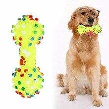Gumová tečkovaná činka pro psy na kousání