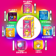 Brand SXN 28pcs Pack  7 Styles Latex Condoms,Ultra Thin, Dotted, Cool, Lasting Types,  Essential Sex Products