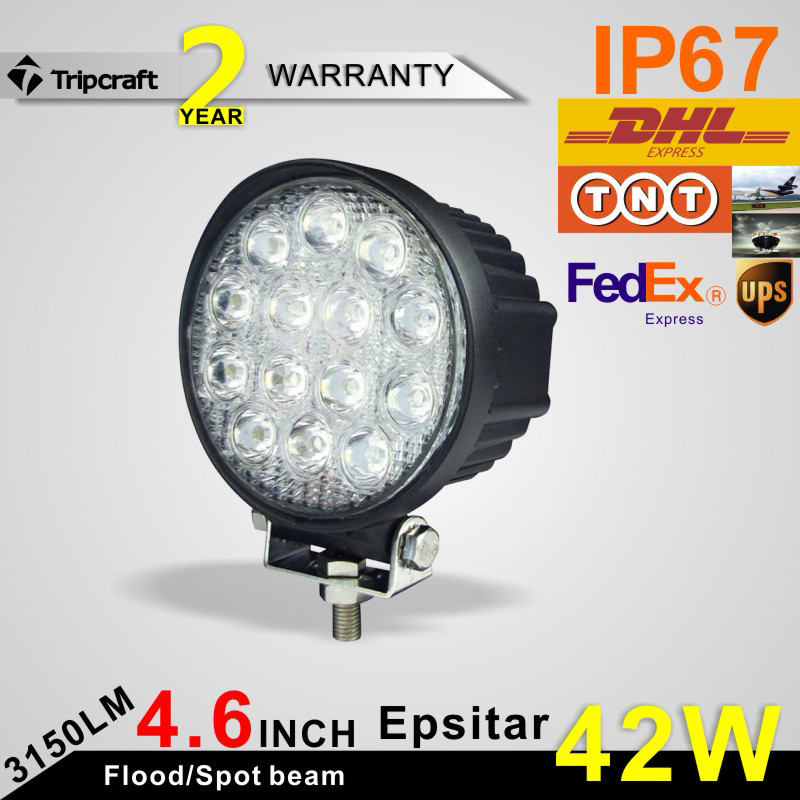 ФОТО Freeshipping!4Inch 42W Epsitars LED Work Light for Indicators Motorcycle Driving Offroad Boat Car Tractor Truck 4x4 SUV ATV Spot