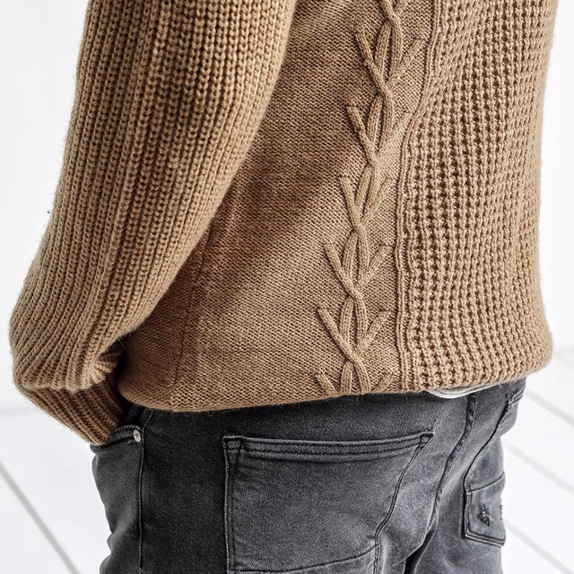 Men Slim Fit Knitted Pullovers Casual  Sweater 4