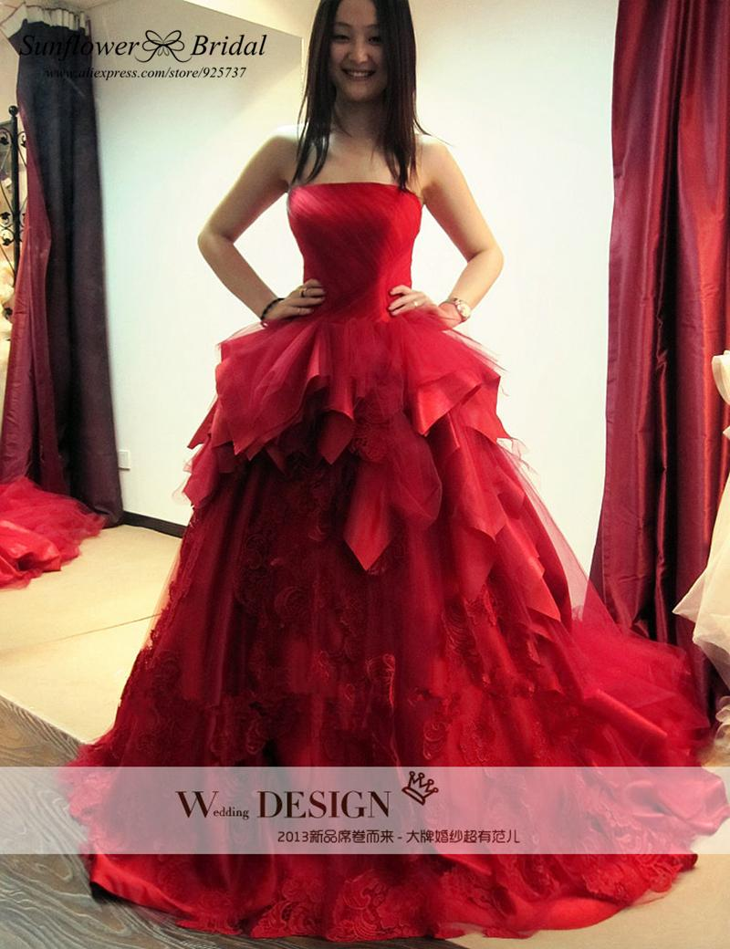 Online get cheap red wedding dress for Cheap red wedding dresses