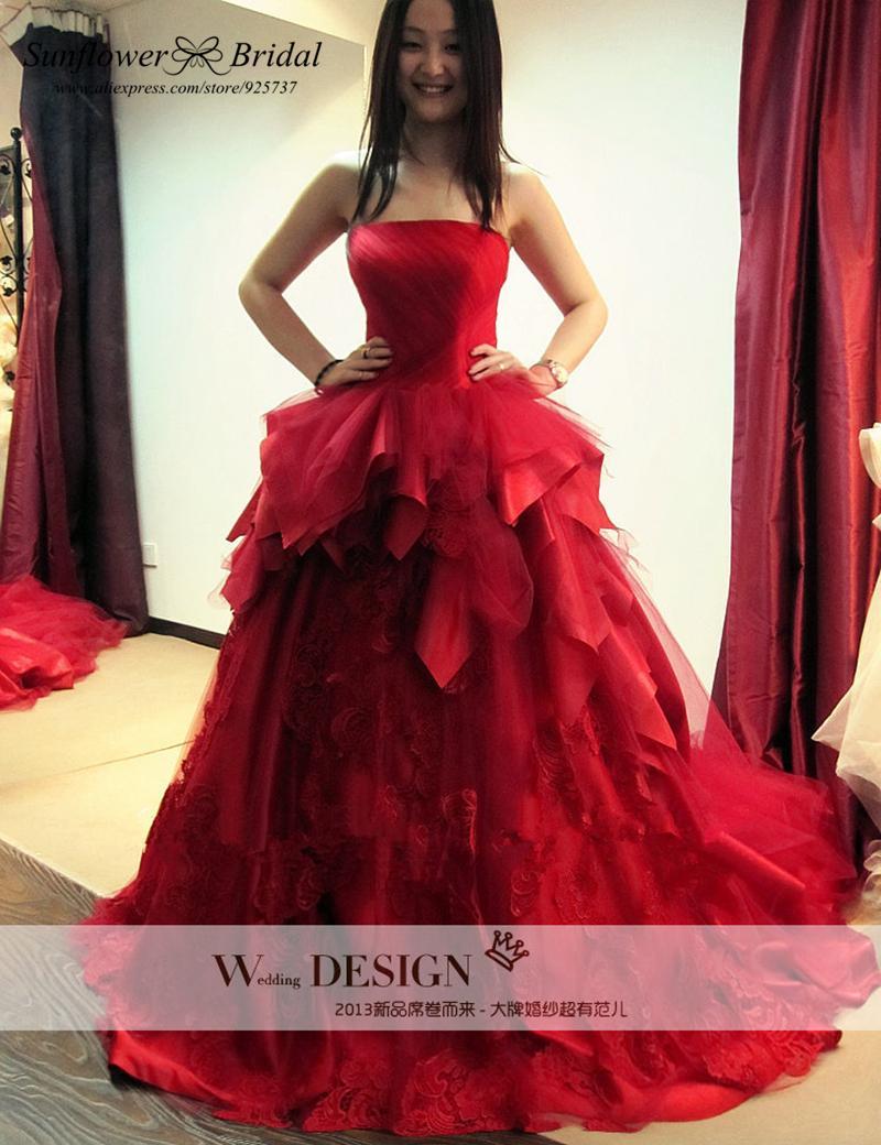 Online get cheap red wedding dress for Red wedding dresses cheap