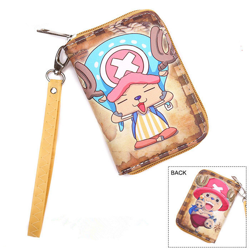 Free Shipping Cartoon Wallet With Coin Pocket and Chain Character One Piece/Death Note/One Pouch Man/ Boy and Girl Wallets