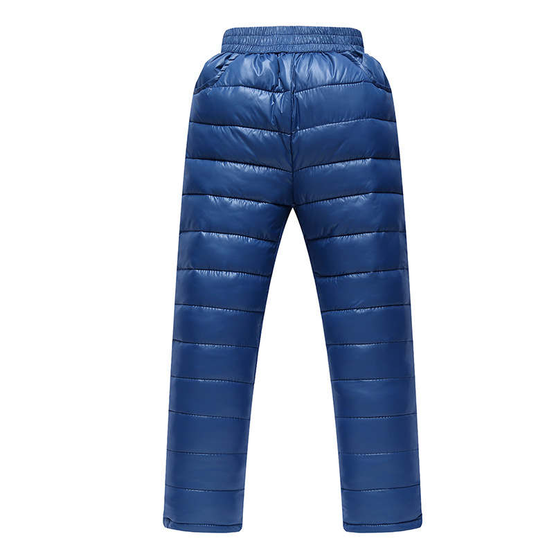 Kids Leggings Pants Winter Cotton Warm Thickening Trousers Boys Girl Sport Inverno 11 Years Black Pink