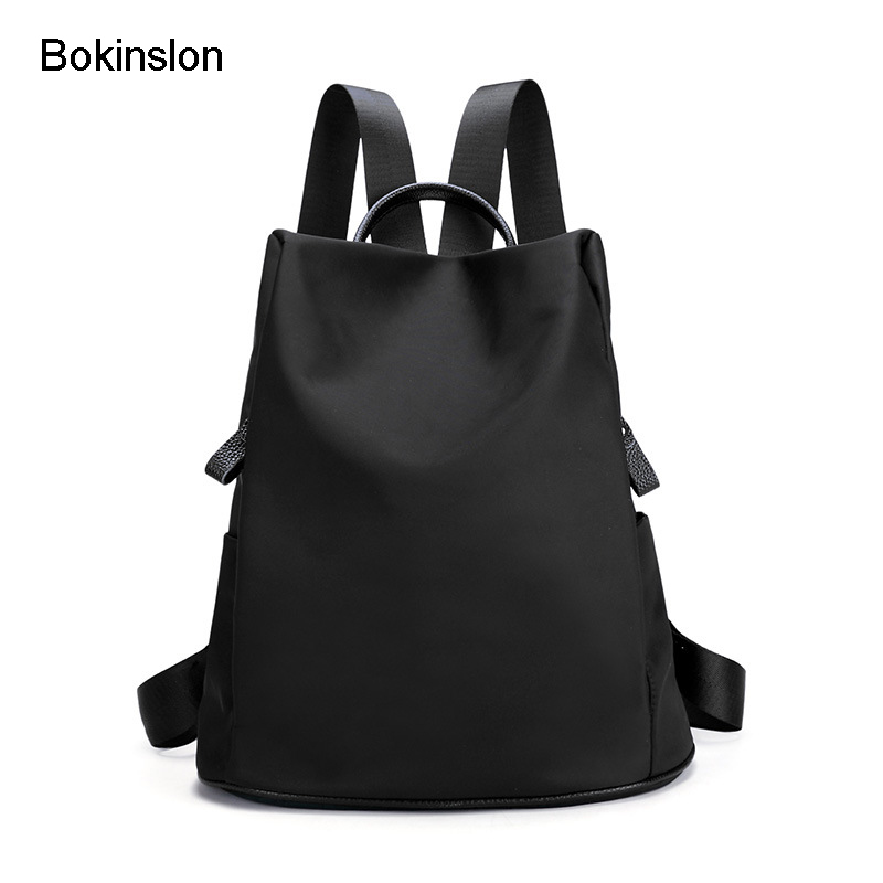Bokinslon Women Bags Backpack Oxford Casual Woman Backpack Popular Solid Color Fashion Backpacks For Girl