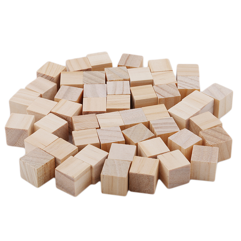 Image 2 - 5 50pcs/pack Wooden Cube Blocks Skill Stack Grown Up Toys Tower Collapses Games Kids Gifts Natural Color Blocks-in Blocks from Toys & Hobbies