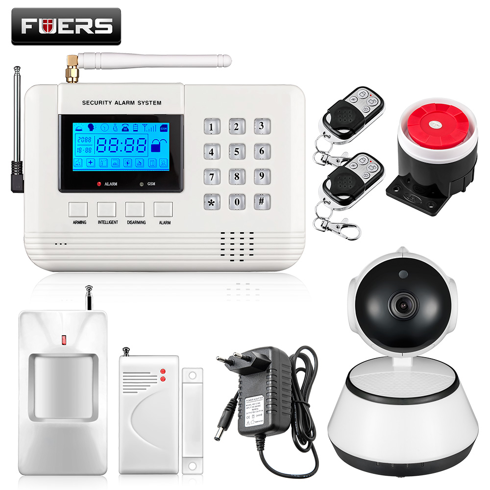 Фотография Fuers Q2 Wireless GSM Alarm With PIP Motion Sensors 720P Wireless WiFi Camera Security Alarm System