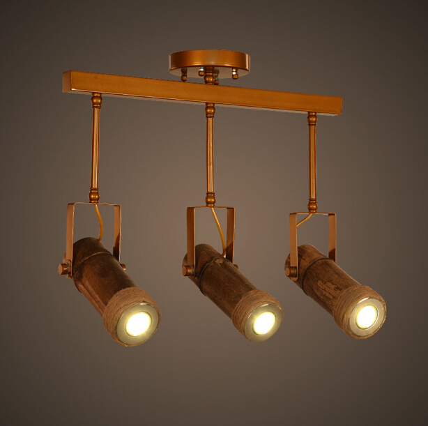 Loft American Country Vintage Rope Bamboo Ceiling Light Personality Creative Bar Cafe Restaurant Ceiling Lamp Free Shipping american country loft style creative personality little dog modelling glass study lamp restaurant pendant light free shipping