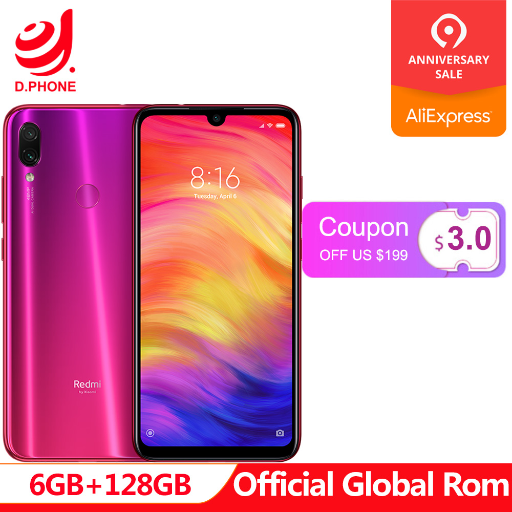 Rom officielle globale Xiaomi Redmi Note 7 Pro 6 GB RAM 128 GB ROM Octa Core processeur 48MP IMX586 appareil photo 4000 mAh SmartphoneRom officielle globale Xiaomi Redmi Note 7 Pro 6 GB RAM 128 GB ROM Octa Core processeur 48MP IMX586 appareil photo 4000 mAh Smartphone