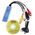 Novo Portátil USB 2.0 Easycap Adaptador de Captura De Áudio e Vídeo VHS DC60 DVD Converter Composite RCA Azul Atacado