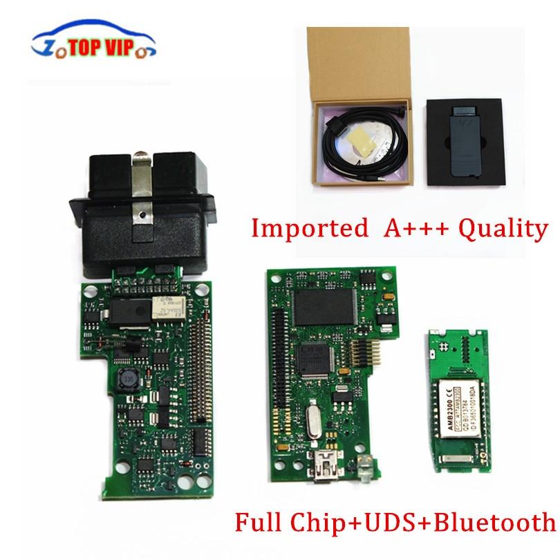 2017 лучшие импорт чип VAS 5054a полный чип V19 vas5054 A ODIS v4.0.0 Bluetooth с OKI chip Поддержка UDS протокол vas5054