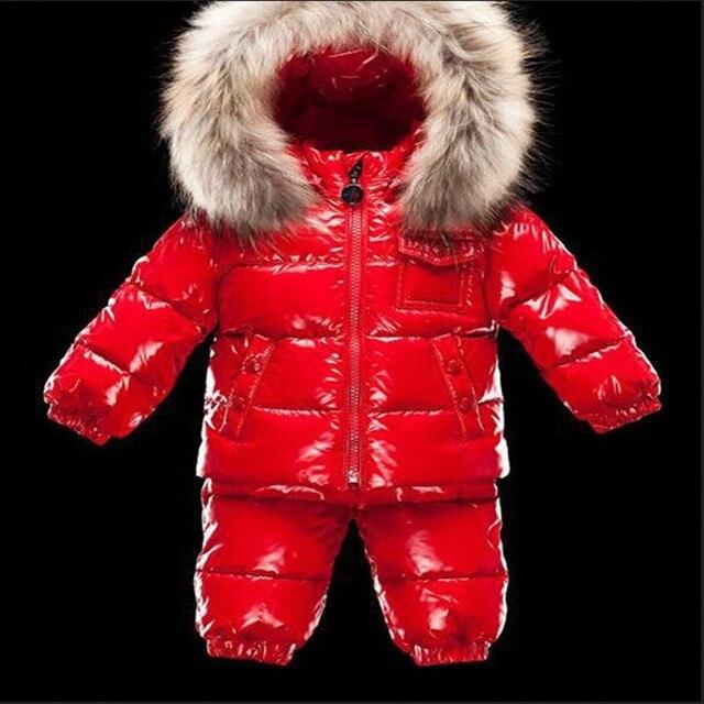 Детская одежда зимняя мода меховым воротником высокого качества детский отдых пиджак теплый пункт детская одежда набор