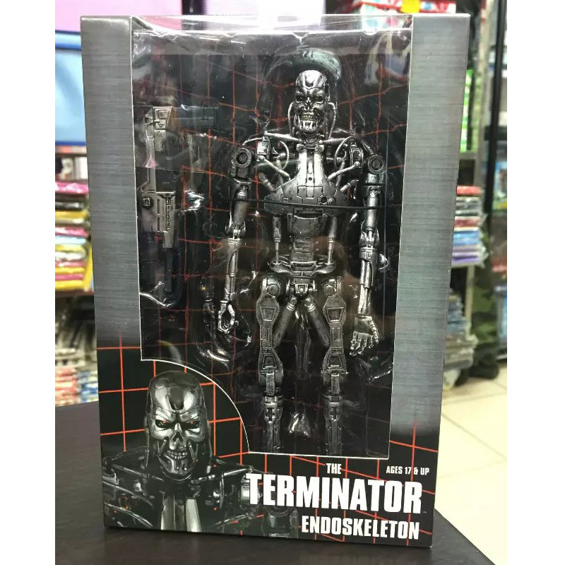 "The <font><b>Terminator</b></font> <font><b>Endoskeleton</b></font> PVC <font><b>Action</b></font> <font><b>Figure</b></font> Collectible Model Toy 7"" 18cm KT1790"
