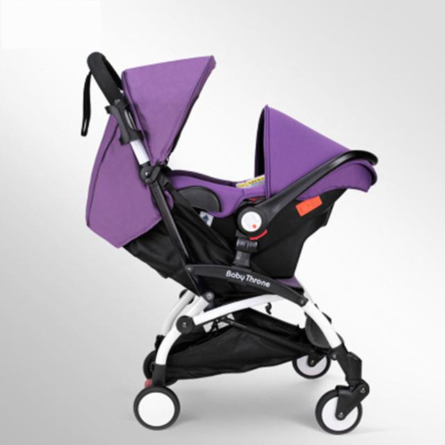 Cadeira de segurança para Carrinhos de Bebê Carrinhos de Bebê Carrinhos de Bebê 3 Em 1 Transporte Dobrada Carrinho de Carrinhos de Bebê Kinderwagen Luxo Paisagem GH265