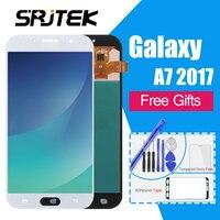 Super AMOLED ЖК дисплей для samsung Galaxy A7 2017 Дисплей Сенсорный экран планшета Ассамблеи для samsung A720 A720F SM A720F ЖК дисплей