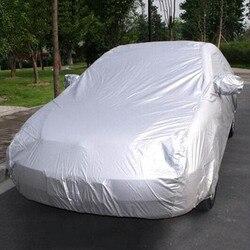 Wodoodporne pokrowce samochodowe zewnętrzna osłona przeciwsłoneczna pokrywa ochronna do samochodu reflektor pył deszcz śnieg ochronny suv sedan hatchback full
