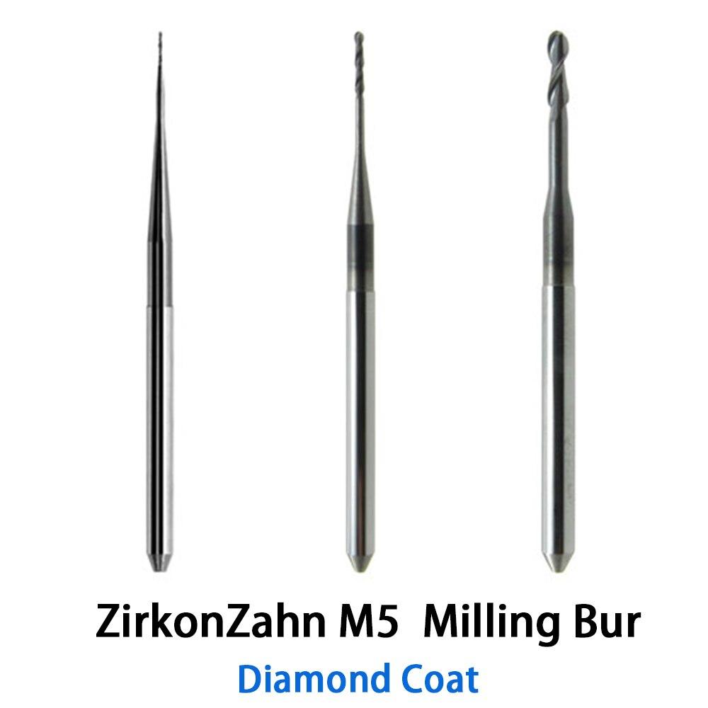 ZirkonZahn M5 CADCAM fraise à fraiser avec une capacité de plus de 500 unités de dents en zircone