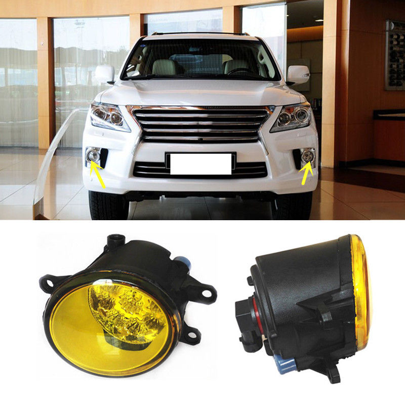 For Lexus LX570 GS350 GS460 IS250 2pcs Yellow LED Front Fog Lamp ReplacementFor Lexus LX570 GS350 GS460 IS250 2pcs Yellow LED Front Fog Lamp Replacement