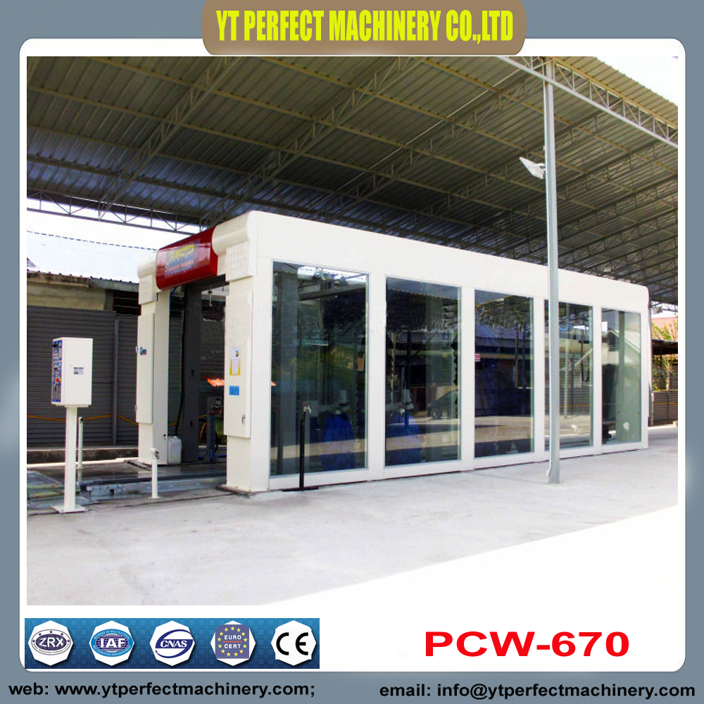 PCW 670 Fully Automatic Tunnel Car Wash Machine-in Paint