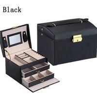 High Quality PU Leather Three Layer Double Drawer Jewelry Box Jewelry Display Gift Box Jewelry Storage