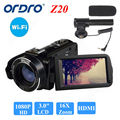 "ORDRO HDV-Z20 1080P Full HD Digital Video Camera Camcorder 24MP 16X Zoom 3.0"" LCD Screen Free shipping"