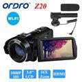 "Ordro 24mp hdv-z20 1080 p full hd câmera de vídeo digital camcorder 16x zoom 3.0 ""lcd tela frete grátis"