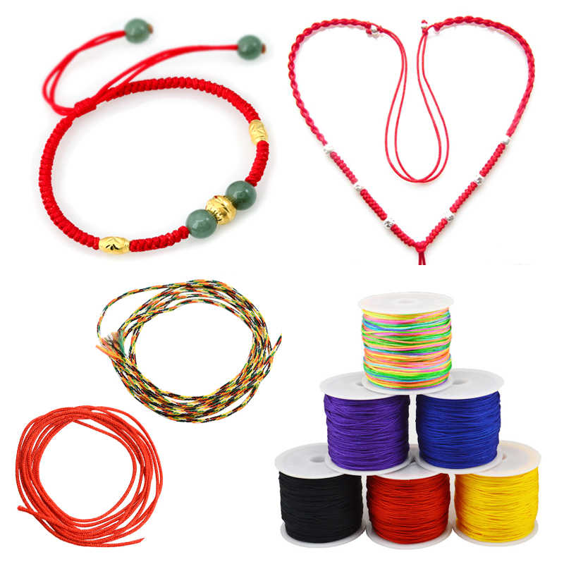 45m/Roll Waxed Cotton Cord 0.8mm Thread String Rope Spool Wire fit Beading Craft DIY Bracelet Necklaces Jewelry Findings