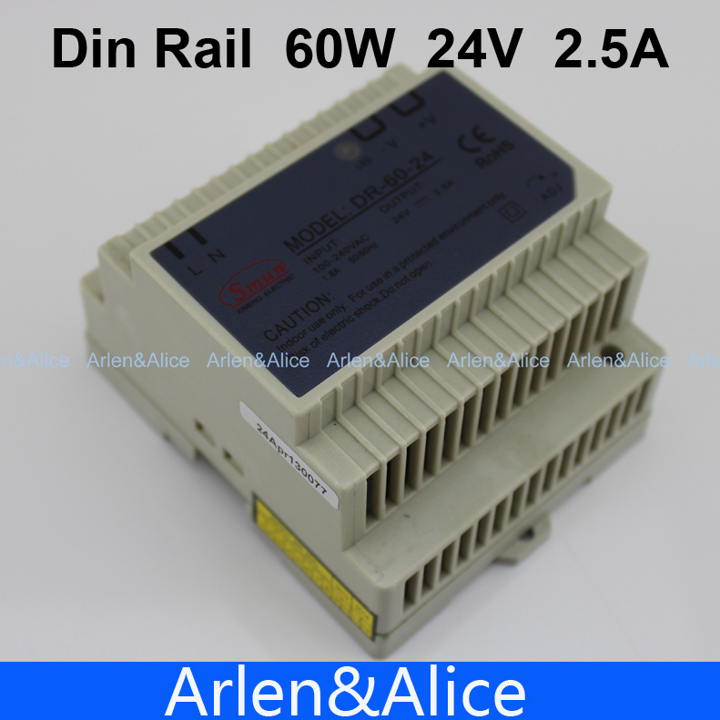 все цены на 60W 24V Din Rail Single Output Switching power supply SMPS suply
