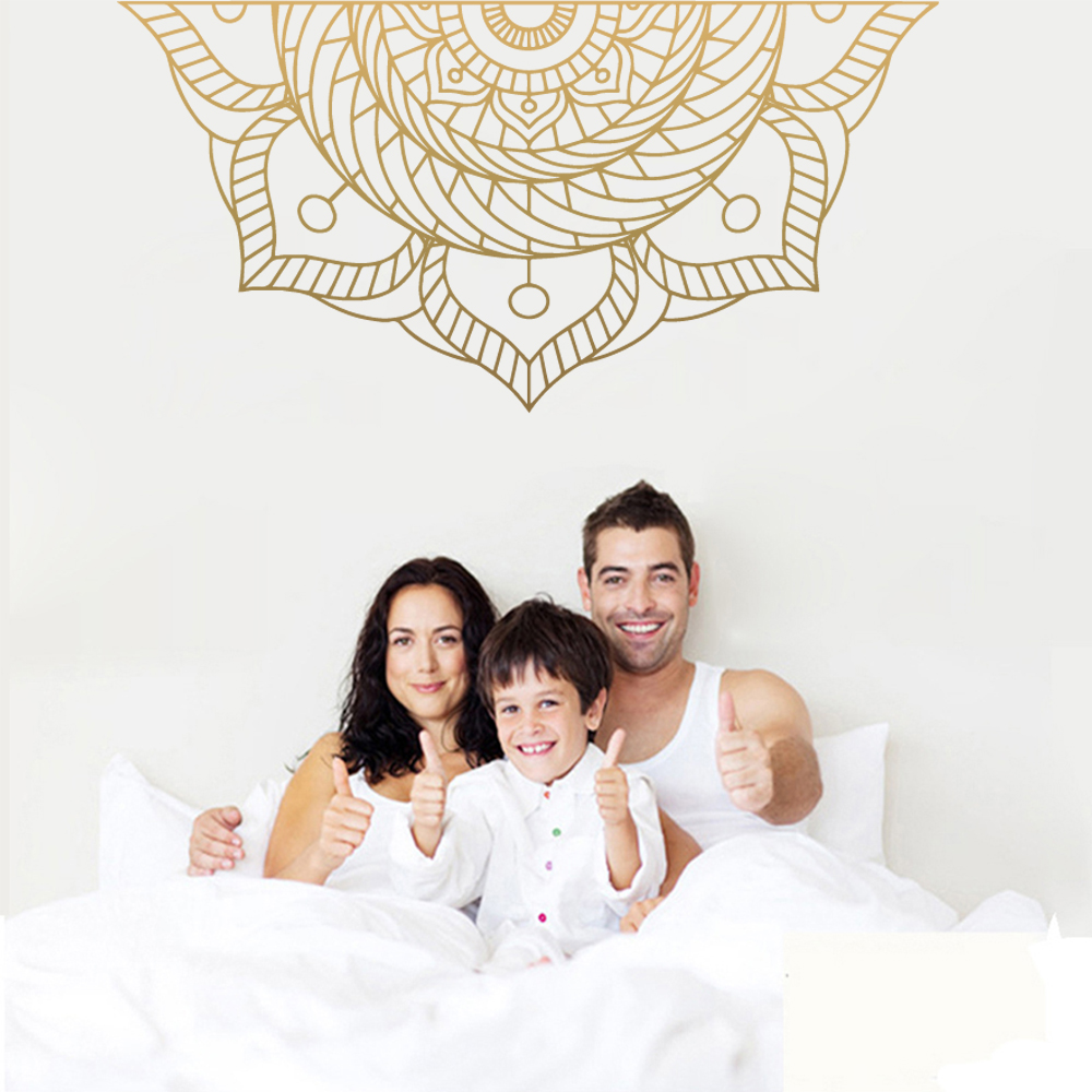 Romantic Mandala Flower Personalized Wall Stickers For Kids Rooms Art Decal Removable mural Bedroom Decals Sticker
