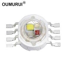 100 قطعة 4W 12W LED RGBW مصباح عالي الطاقة الخرزة الأحمر الأخضر الأزرق الأبيض ثمانية الساقين 350mA/700mA epileds 45MIL رقائق شحن مجاني