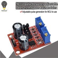 1 шт. NE555 частота импульса, Регулируемый Модуль рабочего цикла, квадратный/прямоугольный генератор волнового сигнала, Драйвер шагового двиг...