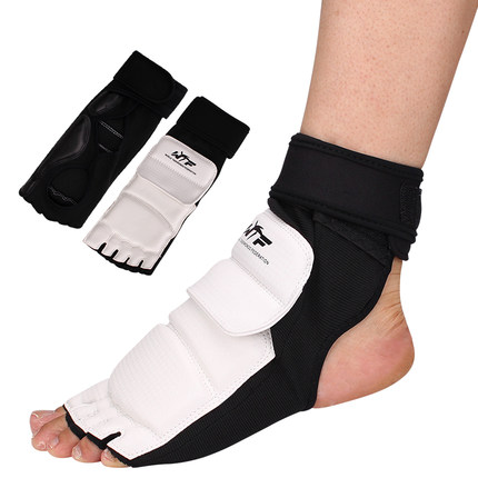 Taekwondo Foot Protector KTA For Offical Competition Fighting Feet Guard Kicking Box foot high quality mooto taekwondo foot protector kta for offical competition fighting feet guard kicking box spats guard