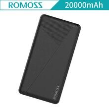20000mAh Romoss Pie 20 Powerbank External Battery Polymer Dual USB Portable Charger Power Bank For Samsung Xiaomi iPhoneX Pie20