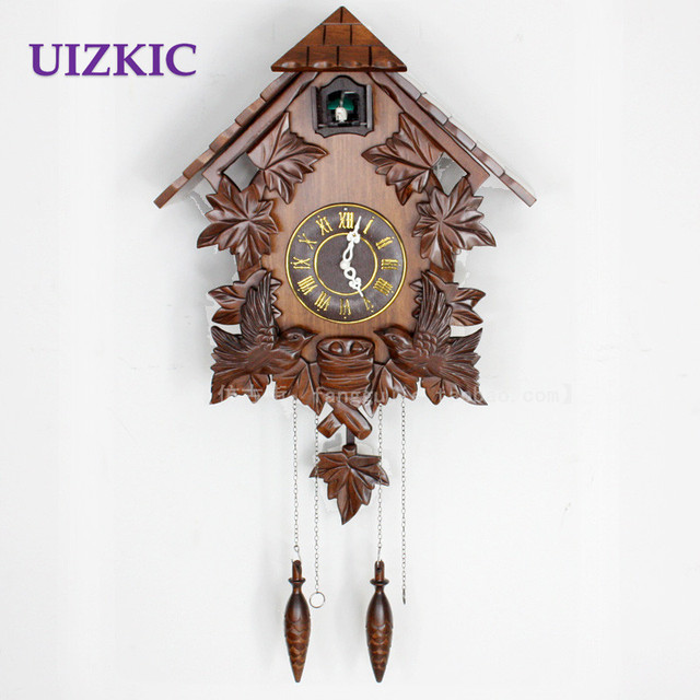buy hot sale wooden wall cuckoo clock with bird singing and alarm for kids room. Black Bedroom Furniture Sets. Home Design Ideas