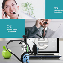 NEWEST protable and comfortable bass laptop wearing ear style headset with a microphone headset microphone