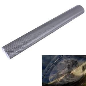 Image 3 - 107cm * 30cm הולו רכב מנורת סרט רשת צד מגן מדבקה שחור פנס טאיליט סרט דפוס