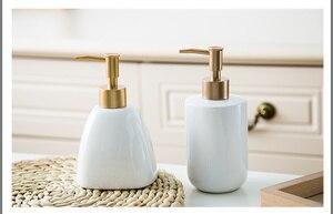 Image 5 - Дозатор для жидкого мыла, бутылка с гелем для душа, портативный керамический диспенсер для ванной комнаты, дезинфицирующее средство для моющего средства