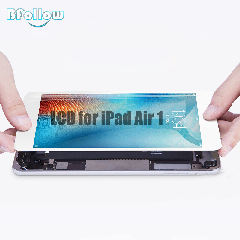 BFOLLOW LCD Display for iPad Air 1 Original AAA Screen Digitize Assembly Replacement iPad 5 A1474 A1475 A1476 цена