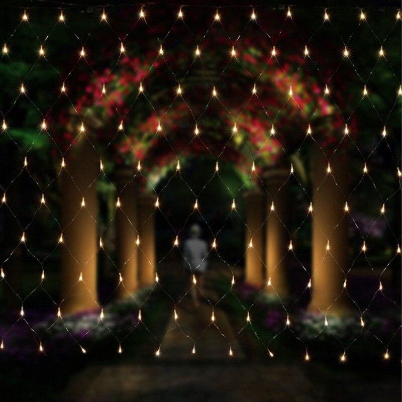 Огни строки 2 м x 3 м 200 светодиоды сетка Фея мерцают флэш-лампы для дома и сада Рождество Свадьба Рождество дерево партия гирлянда украшения