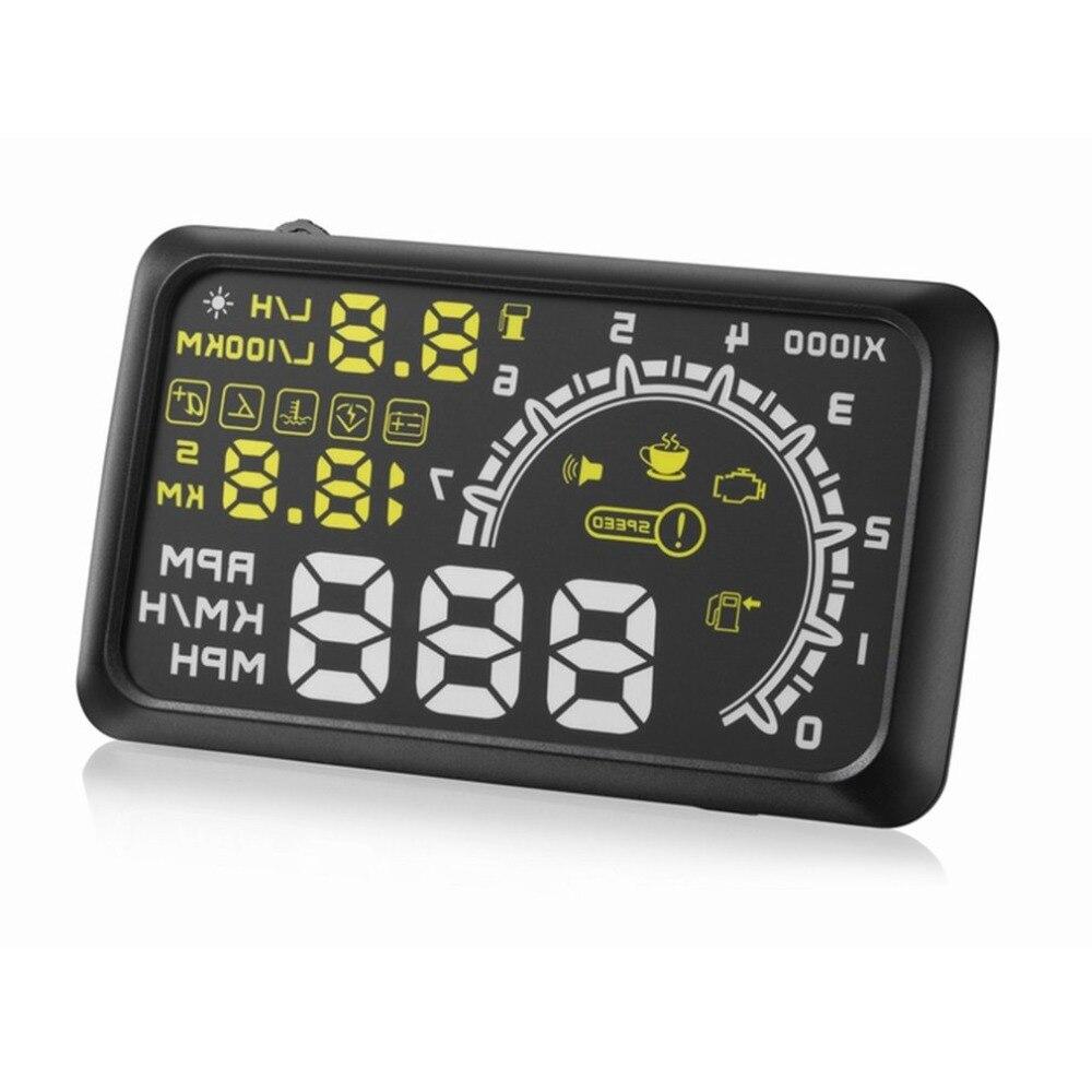 Universal Car HUD Head Up Display Projector 5.5 Inch OBD 2 Interface Speeding Warning Alarm System Digital Car Speedometer