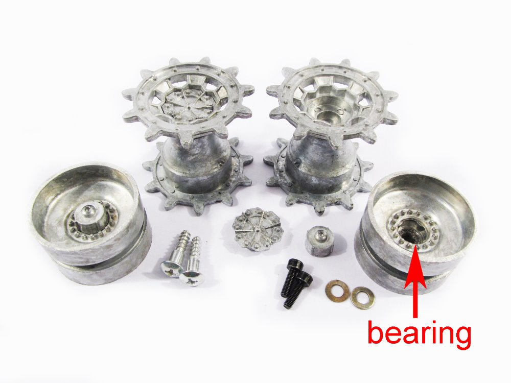 Mato 1:16 1/16 German Leopard 2 A6 metal wheels sprockets and idlers with bearings, for Heng Long 3889-1 Leopard 2 A tank коммутатор zyxel gs1100 16 gs1100 16 eu0101f