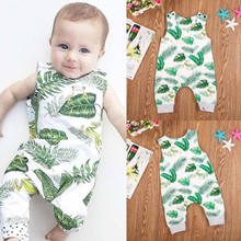 2018 Newborn Kids Baby Boys Girls Soft Romper Long Jumpsuit Outfits Clothes Fashion Cute Frog Neutral Sleeveless Vest Clothes(China)