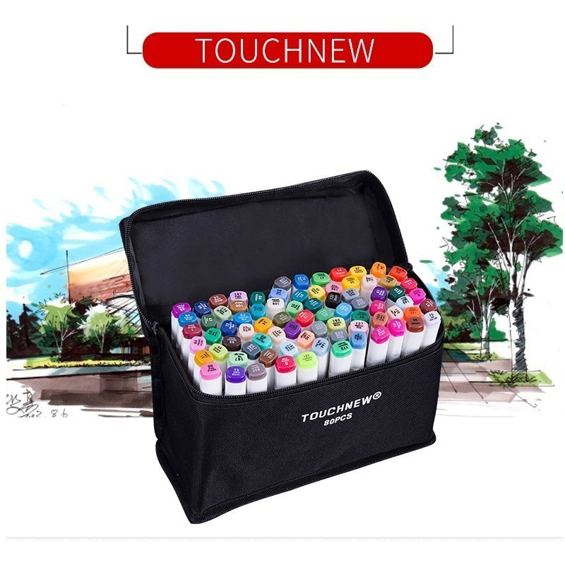 TOUCHNEW 22 /80/168 Colors Artist Dual Headed Marker Set Manga Design School Drawing Sketch Markers Pen Art Supplies