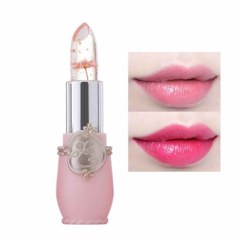 Moisturizer Long-lasting Lipstick Jelly Flower Makeup Temperature Changed Color Lip Blam Pink Pintalabios Transparent Hot Sale