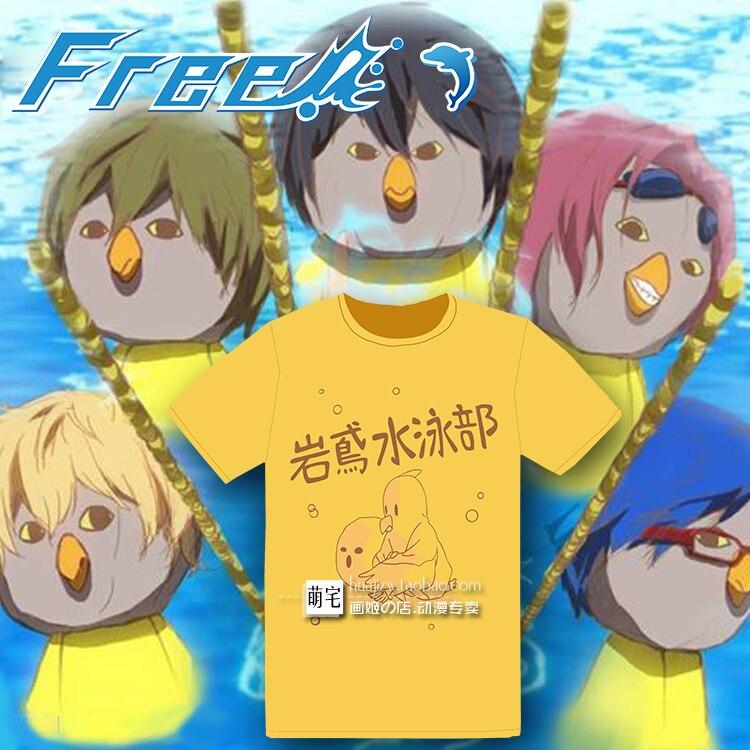 Free! Iwatobi Swim Club Hazuki Nagisa/Makoto Tachibana/Ryugazaki Rei Cosplay costume t shirt/ t shirts