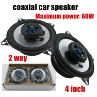 1pair 4 Inch 2 Way 2x60W Perfect Processor Surrounding Music Coaxial Car Speaker Audio Speaker