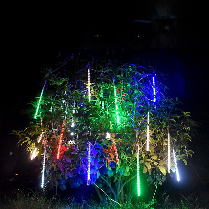 Fairy LED Solar Panel Droop String Lights Waterproof Meteor Shower Garden Outdoor Tree Lamp Festival New Year Garland decoration