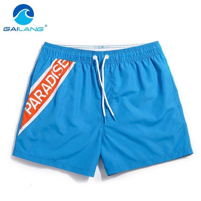 Gailang Brand Quick-drying men beach shorts Swimwear Swimsuits Man boardshorts polyster Man new Trunks Bermuda Casual Trunks